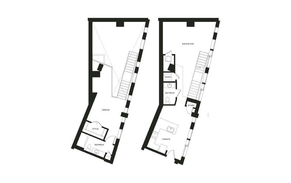 A13_L - 1 bedroom floorplan layout with 1 bath and 1143 square feet.